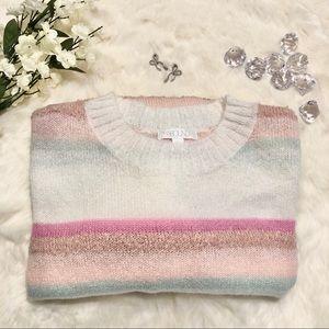 🆕 Abound Pastel Striped Sweater NWT - Size Medium